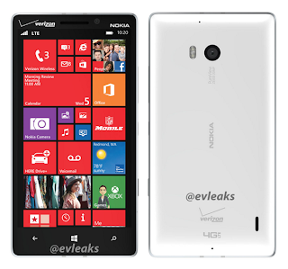White Nokia Lumia 929 Verizon