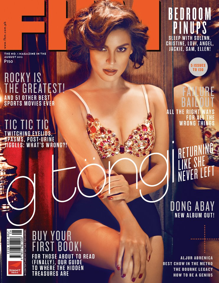 AUGUST 2012 COVER FHM PHILIPPINES G TOENGI
