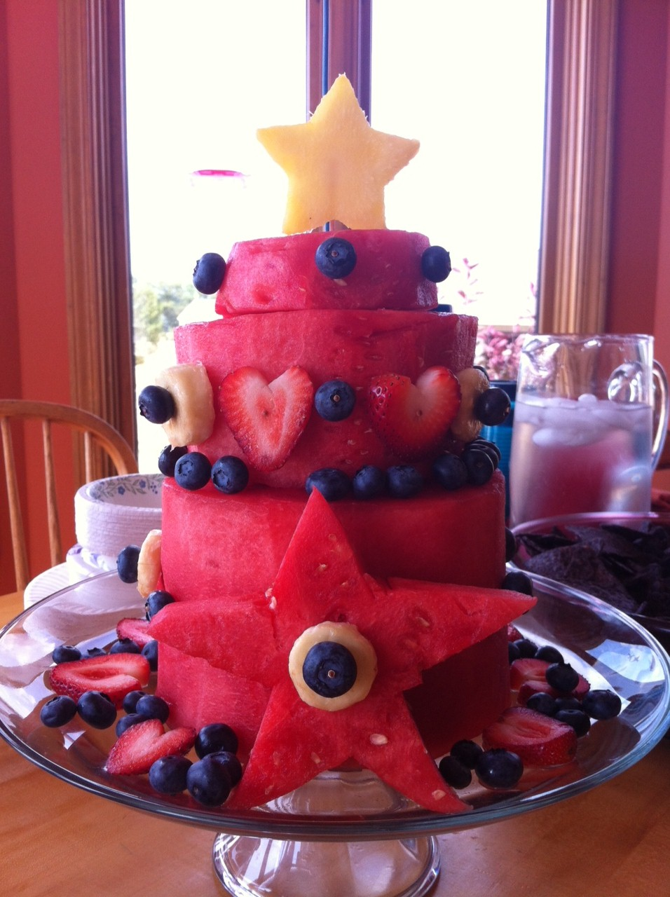 ... raw food rehab on facebook they had posted a similar watermelon cake
