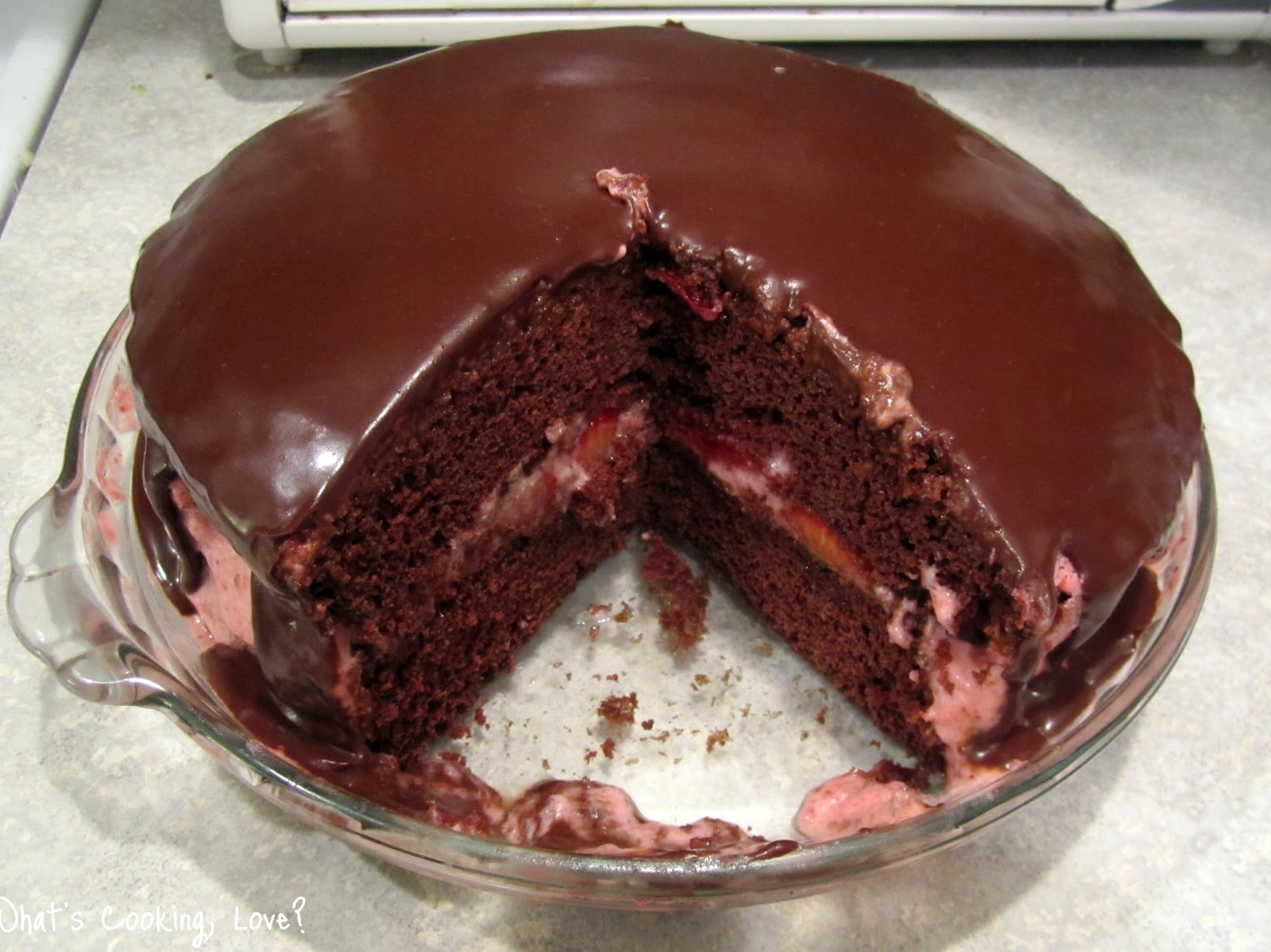 Chocolate Cake With Strawberry Mousse Fillingmarketing