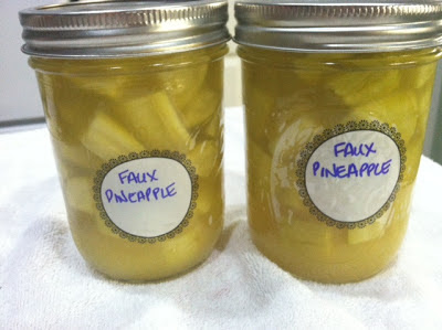 Canning Faux Pineapple