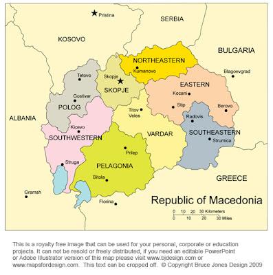 Macedonia Map Province Area