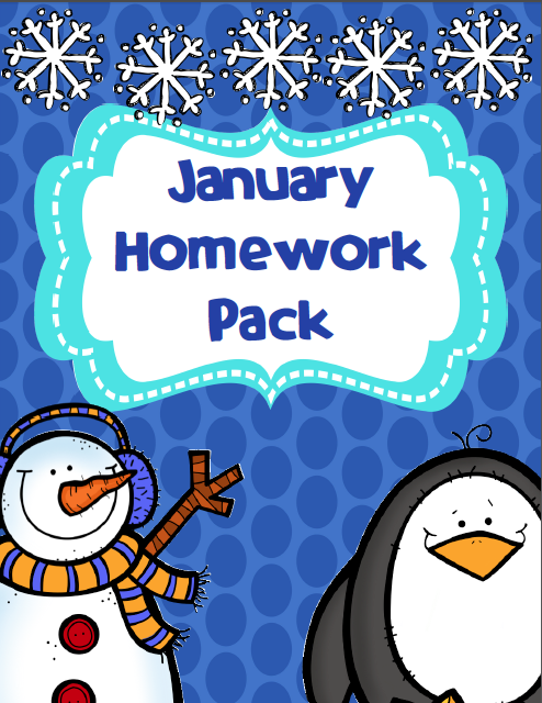 http://www.teacherspayteachers.com/Product/January-Homework-Pack-1045605