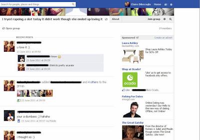 Advertiser business Laura Ashley against advertising on Facebook rape joke page