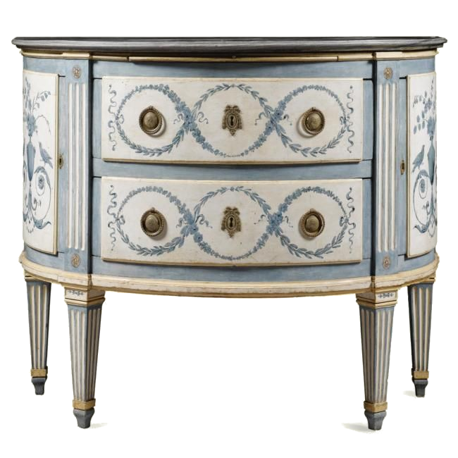 Eye for design decorating with blue painted furniture for Italian painted furniture
