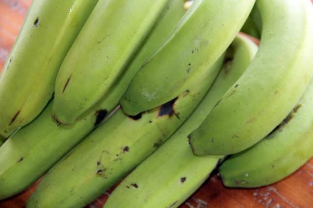 Banana Verde para a Receita de Azul Marinho