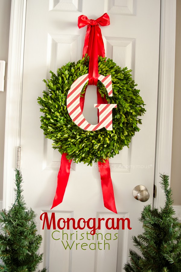 http://www.craftaholicsanonymous.net/monogram-christmas-wreath-tutorial