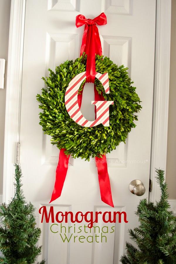 http://www.craftaholicsanonymous.net/monogram-christmas-wreath-tutorial