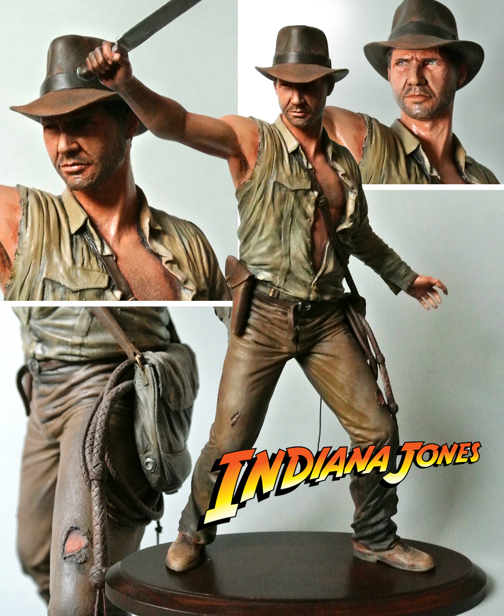 """Indiana Jones And The Temple Of Doom"" Statue by SiMo Sol"