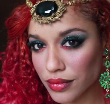 batman poison ivy halloween makeup style for girls
