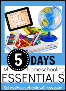 http://schoolhousereviewcrew.com/5-days-of-homeschooling-essentials/