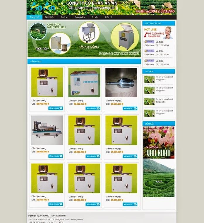 dịch vụ thiết kế website bán hàng thiết bị văn phòng