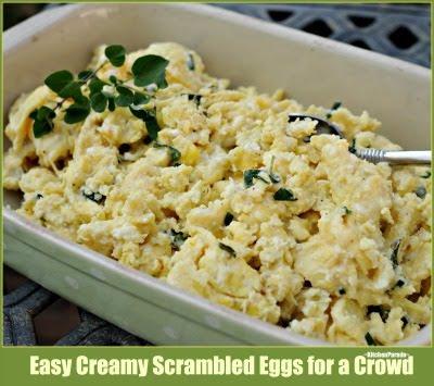 Easy Creamy Scrambled Eggs for a Crowd