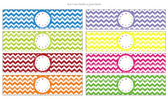 free printable rainbow label templates