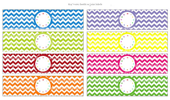 free water bottle label template - f te f te time flies rainbow collection hot off the