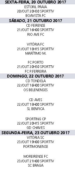 Liga Nós 2017-2018 9ºJornada