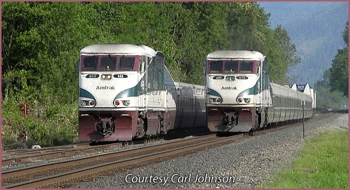 Oil Electric Amtrak Cascades Coming Amp Going