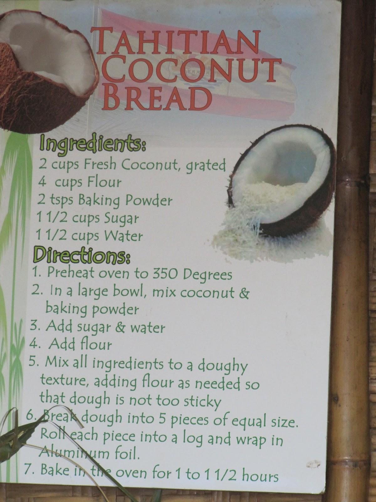 Cookin\' in Anne\'s Kitchen: Tahitian Coconut Bread (2012 - Week 9)