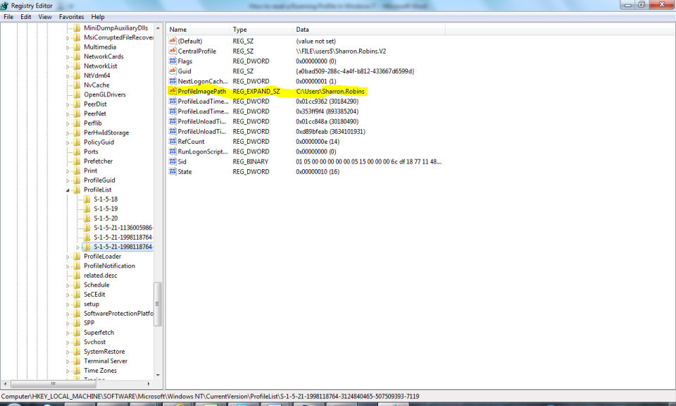 registry keys windows 7 remove