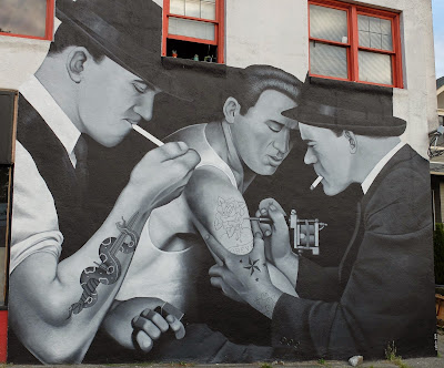 Slave to the Needle Mural–Cabron Mural