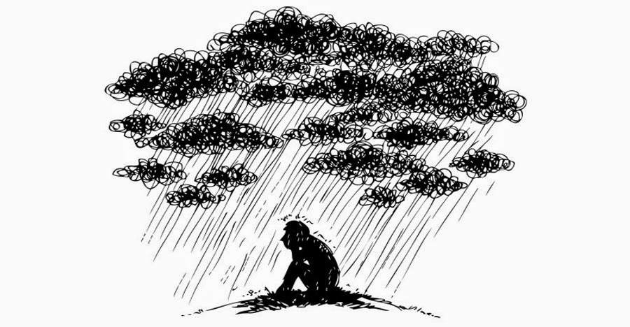 Nubes negras lluvia