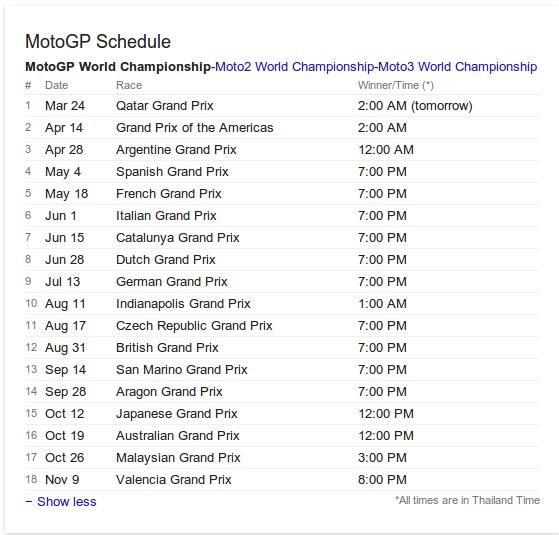 Motogp Ical 2017 | MotoGP 2017 Info, Video, Points Table