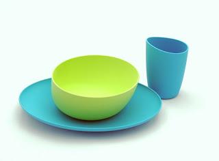 Zoë b Organic Fantastic Anti-Plastic Kids' Dish Sets are Made in the USA