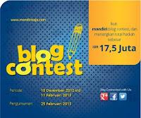 Kontes Blog 2013 Bank Mandiri Saja