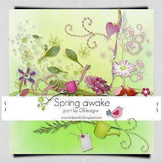 """Free scrapbook collab part """"Spring Awake"""" from Gtdesigns"""