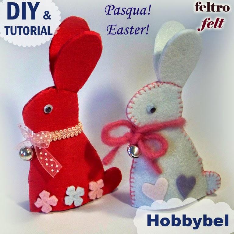 Hobbybel creativit coniglio pasqua cartamodello fai da - Modelli di coniglietto pasquale gratis ...