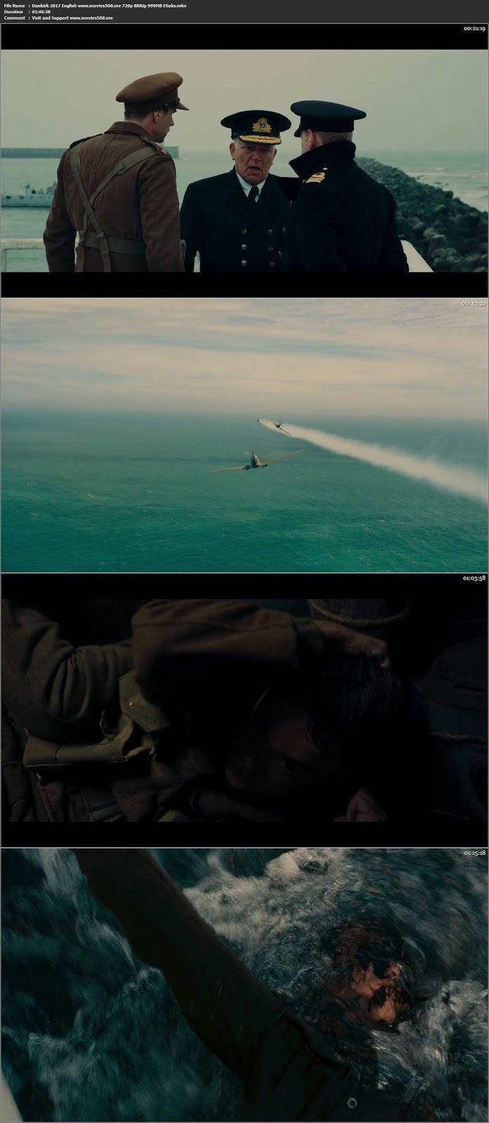 Dunkirk 2017 English Full Movie BRRip 720p 1GB at freedomcopy.com