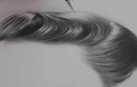 Tutorial drawing hiperrealistic hair in pencil