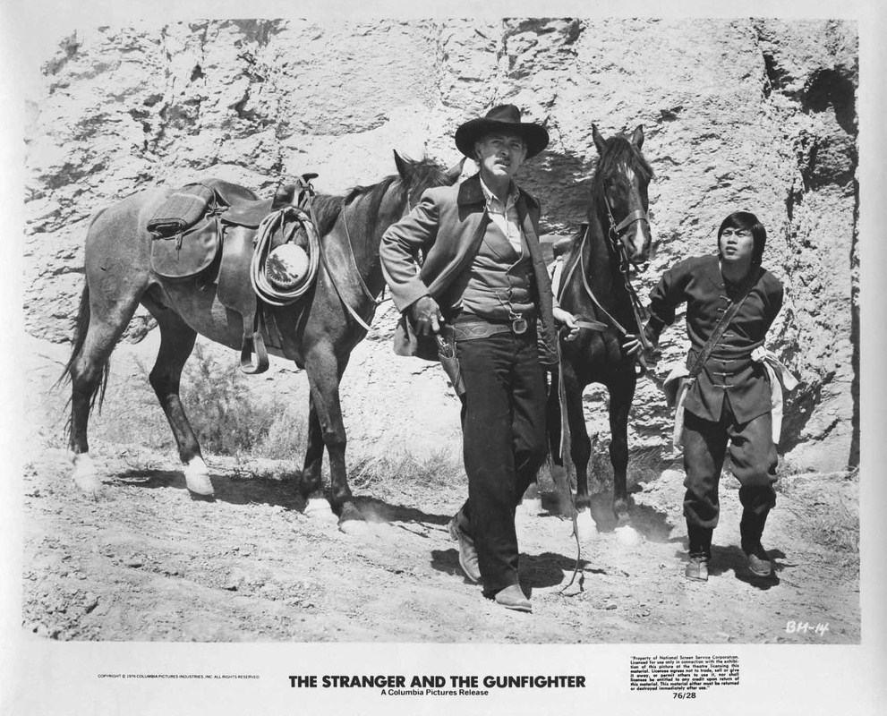The Stranger And The Gunfighter Film Still Starring Lee Van Cleef and Lo Lieh