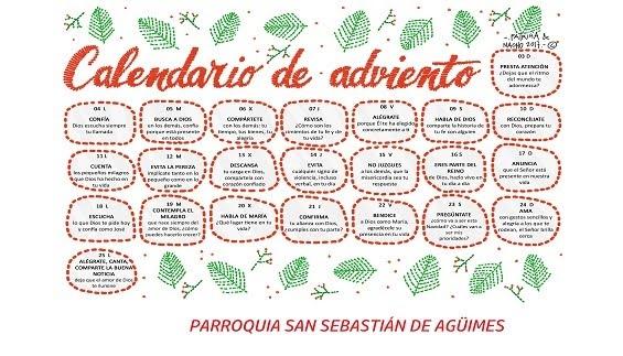 Calendario del Adviento 2017.