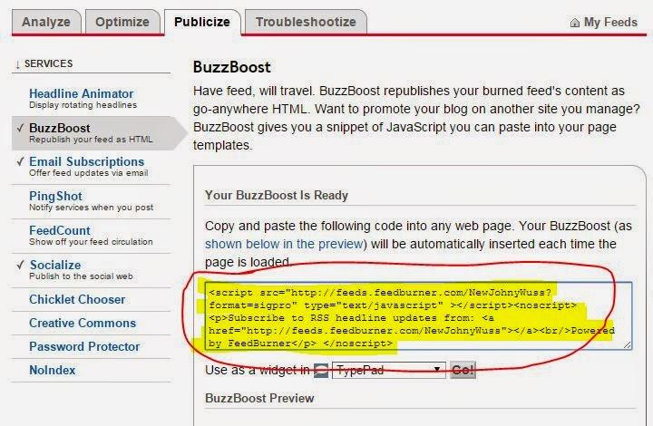BuzzBoost Feedburner