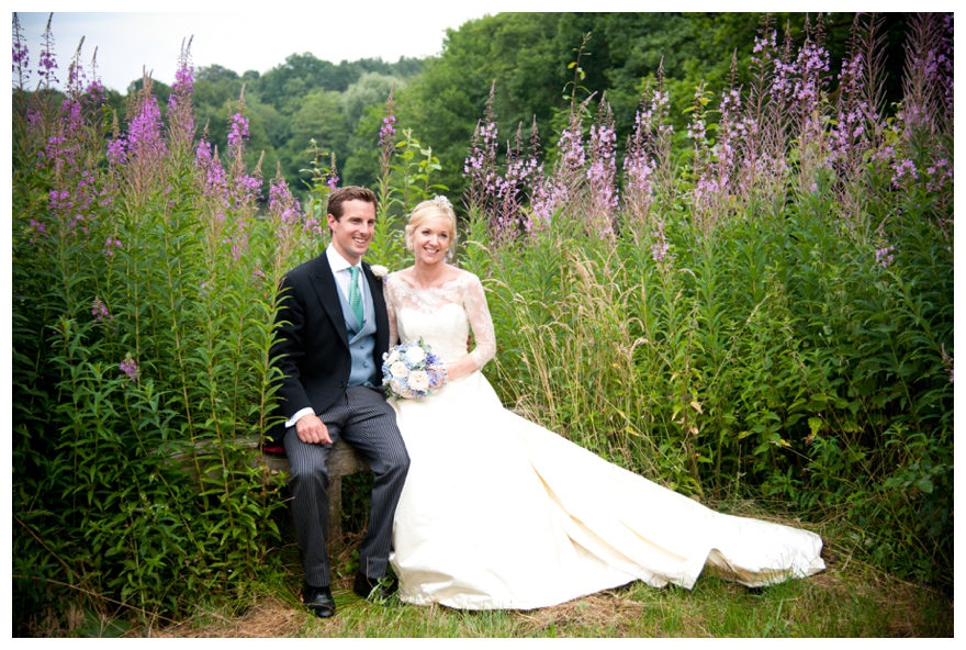a traditional countryside wedding with a fabric inspired