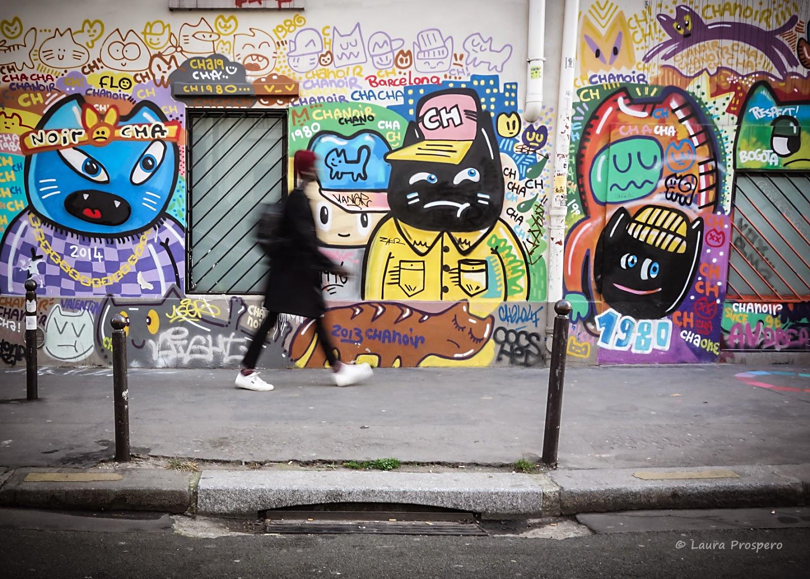 street art 10eme Paris - chatnoir
