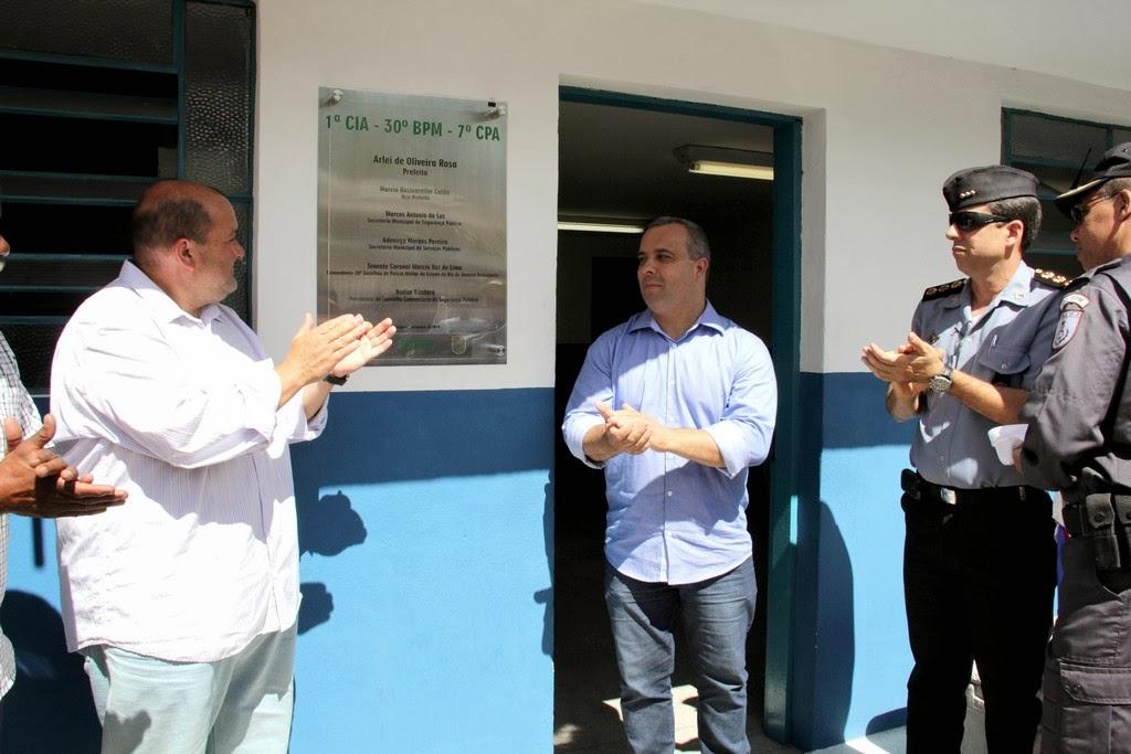 – Inauguração da 1ª  Companhia de Polícia Militar de Teresópolis, no bairro de São Pedro, nesta segunda-feira, 13
