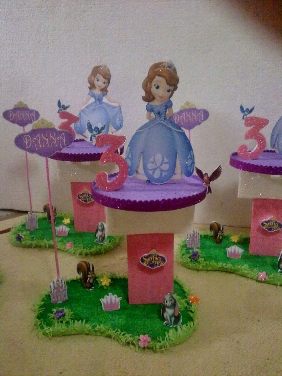Centros de Mesa Princesa Sofia, parte 1
