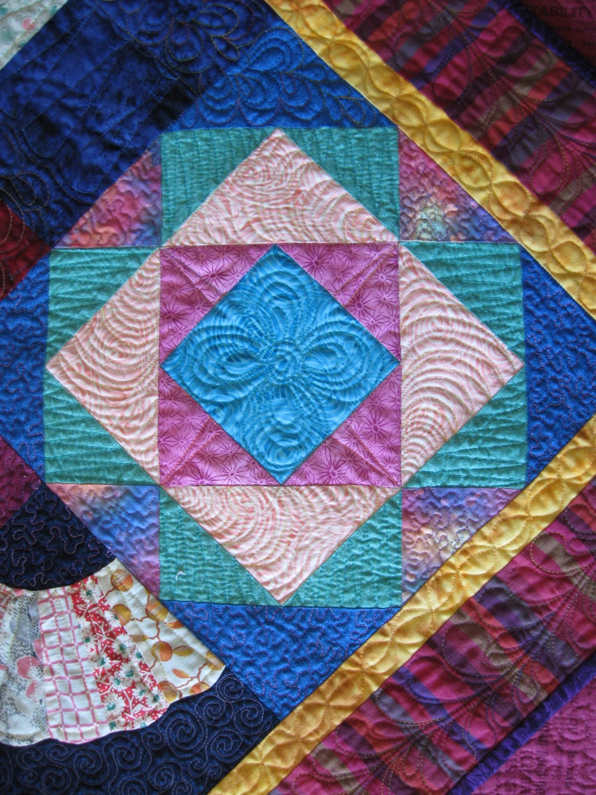 Fiber Antics by Veronica: Free-motion Quilting, stitching freestyle : freehand quilting with sewing machine - Adamdwight.com