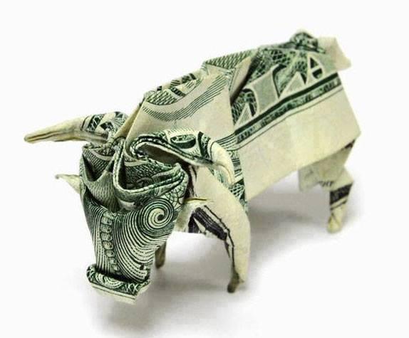 Origami Dollar bentuk Banteng