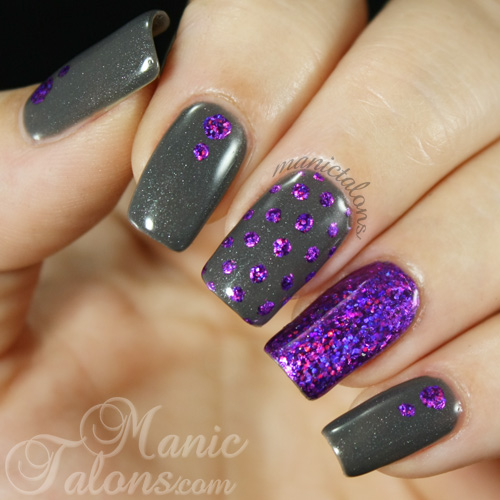 Manicure with nail foil and Couture gel polish