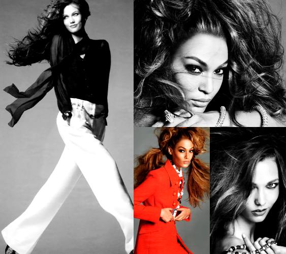 Models: Joan Smalls ? & Karlie Kloss ?. Ph: Steven Meisel