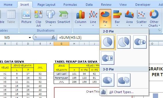 TIKus: Cara Membuat Grafik Perkembangan Siswa dengan Excel