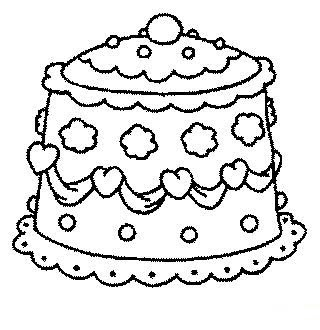 Cake wedding coloring pages cartoon coloring pages for Wedding cake coloring page
