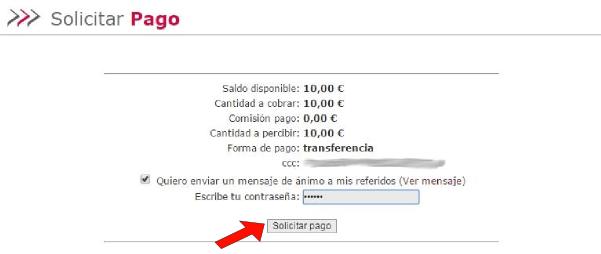 ClickXti Solicitar Pago