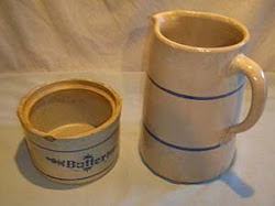 Milk Pitcher & Butter Crock