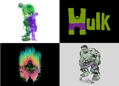 "Marvel x Threadless The Incredible Hulk T-Shirt Collection - ""Dr. Banner-Mr. Hulk"", ""H is for Hulk!"", ""Hulkward"" & ""Hulk Smash Vase"""
