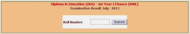 D.Ed. 1st Year RWL Result July 2013 Madhya Pradesh Board