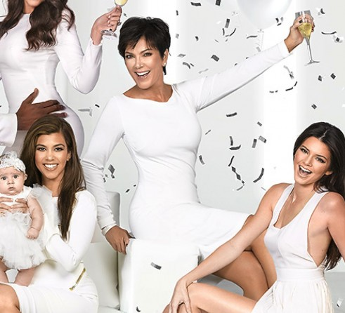 The Kardashian Jenner Clan Pose Together For Their 2012 Family Christmas  Card; Clockwise From Left: Kylie, Kim, Rob, Lamar, Khloe, Kris, Kendall, ...